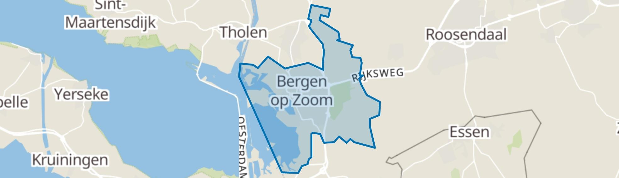 Bergen op Zoom map