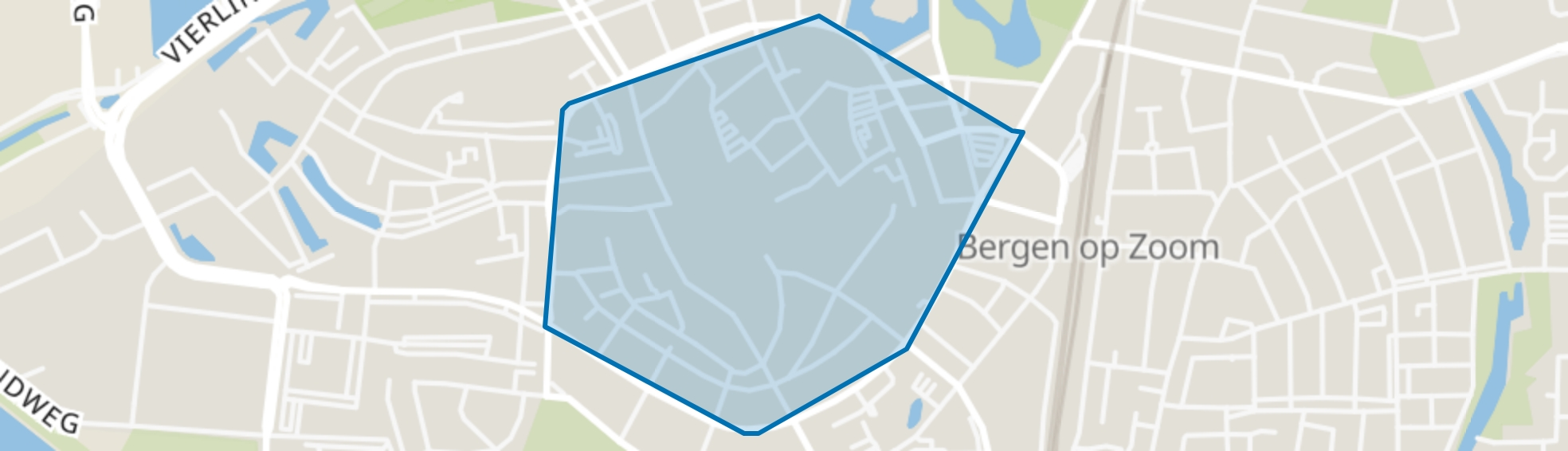 Centrum, Bergen op Zoom map