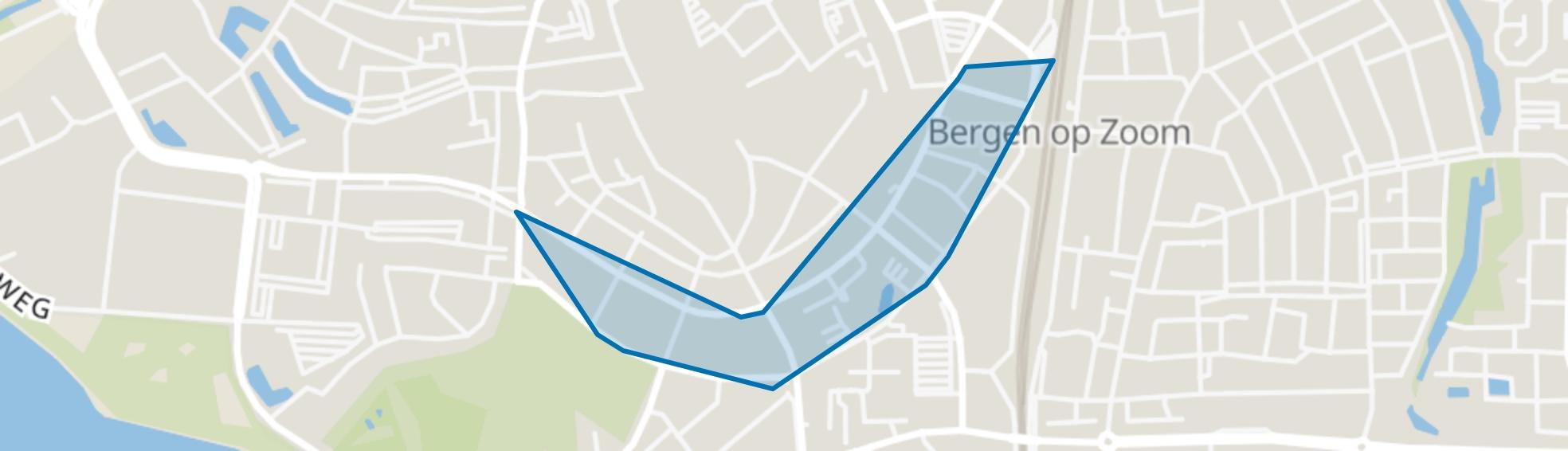 Vestinggronden-Zuid, Bergen op Zoom map