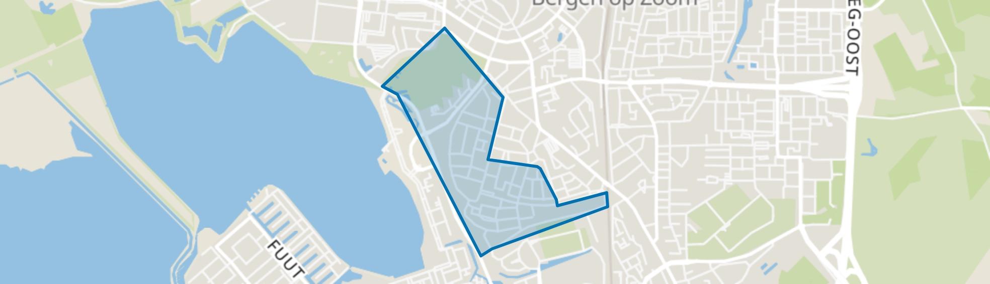Zeekant, Bergen op Zoom map