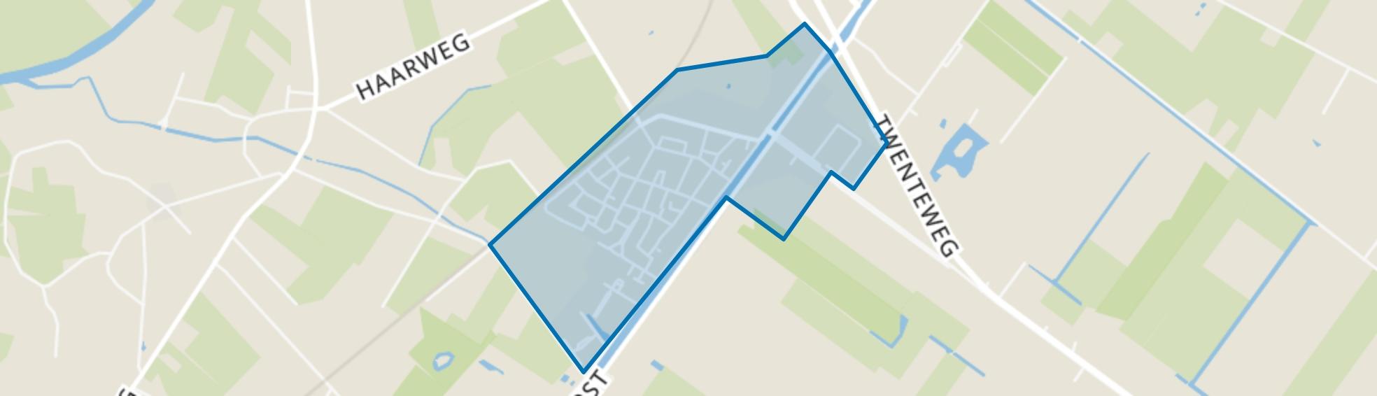 Bergentheim Kern, Bergentheim map