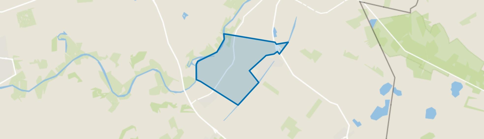 Verspreide huizen Oud-Bergentheim, Bergentheim map