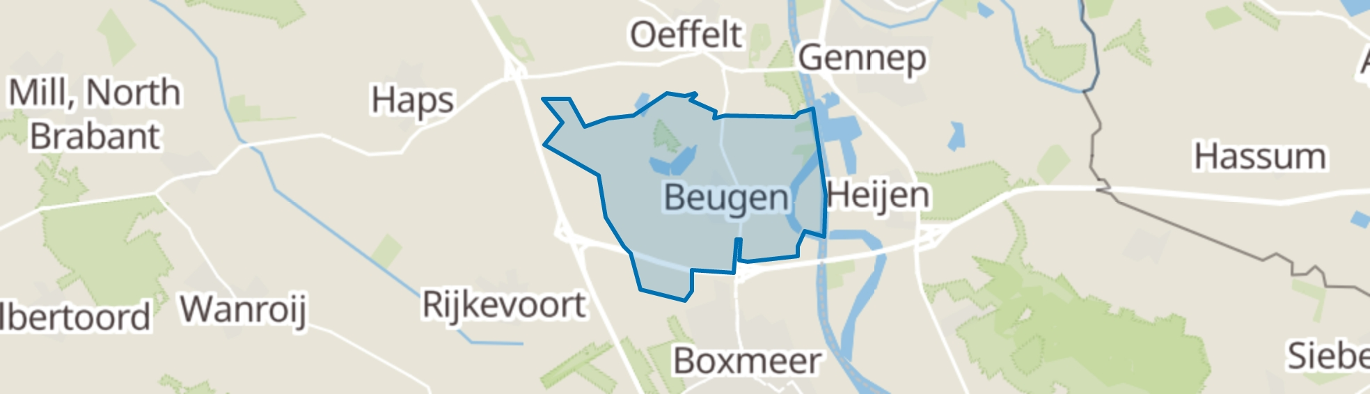 Beugen map