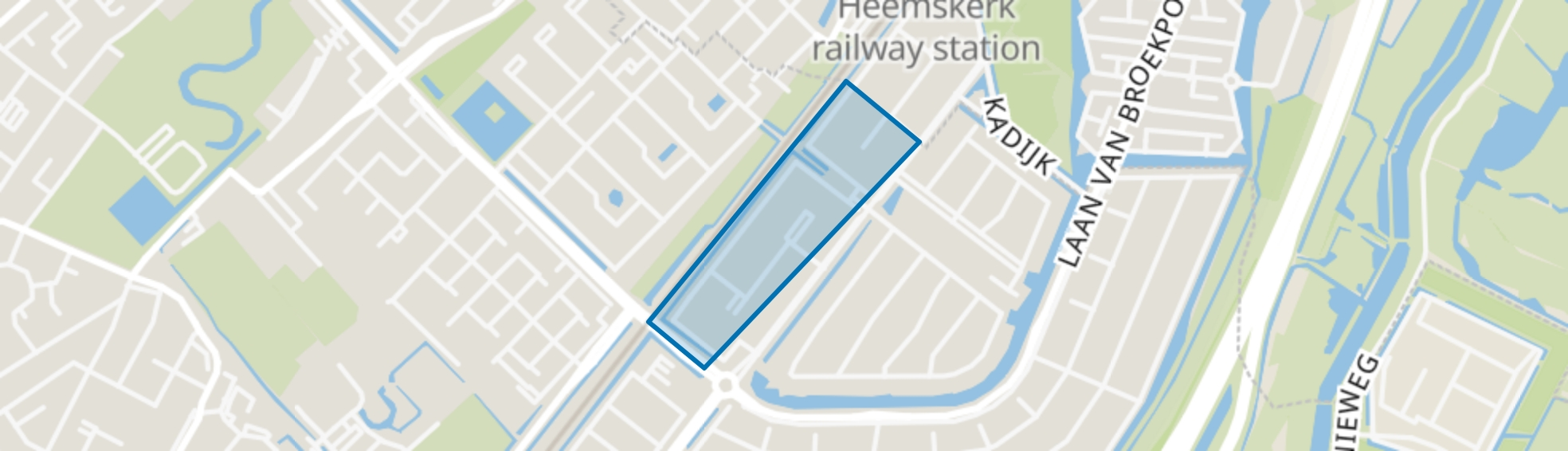 De Ladder Noord, Beverwijk map