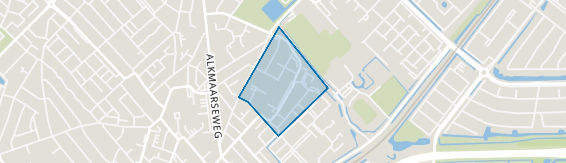 Oranjebuurt, Beverwijk map