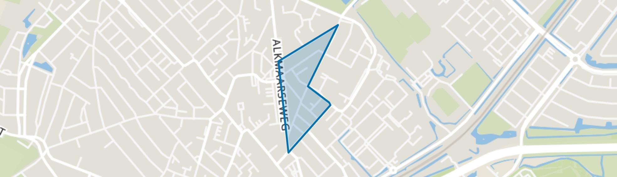 Reguliersstraat, Beverwijk map