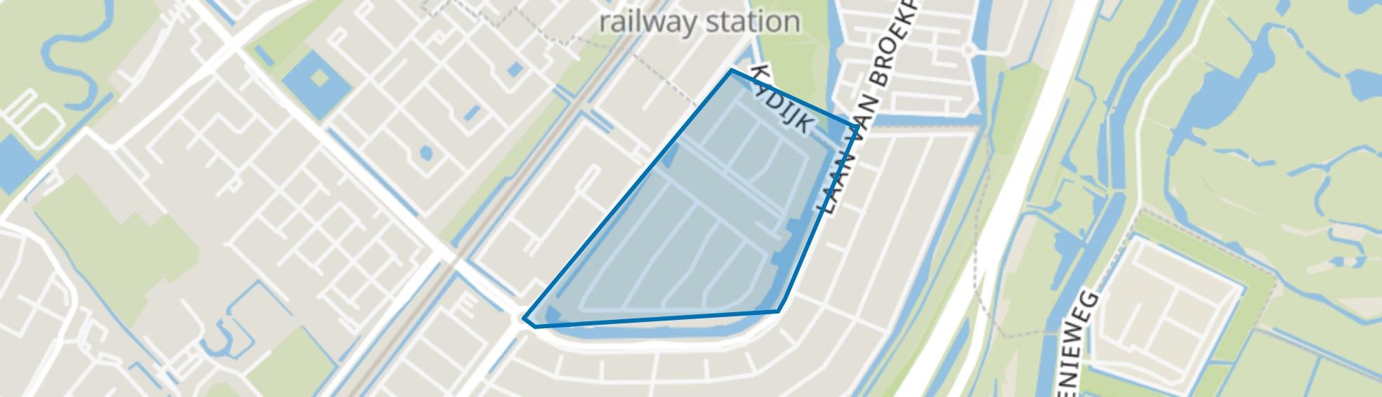 Waterwijk, Beverwijk map
