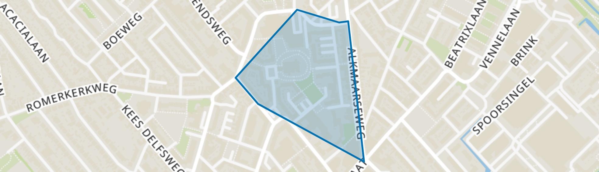 Wijkertoren, Beverwijk map