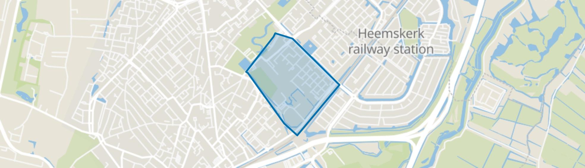 Zwaansmeer, Beverwijk map
