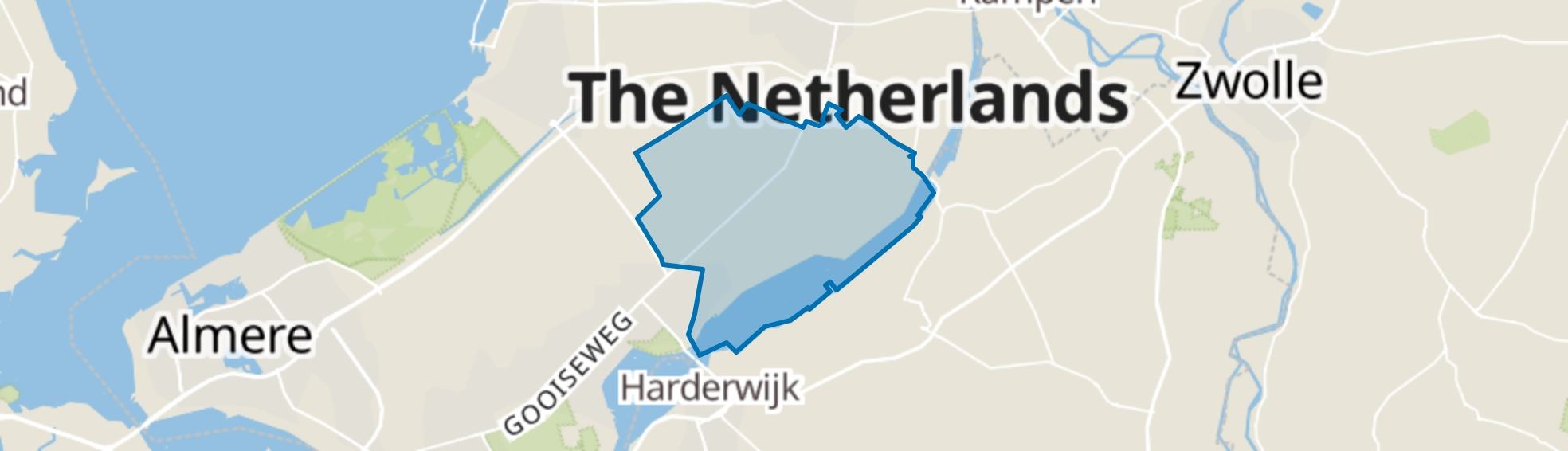 Biddinghuizen map