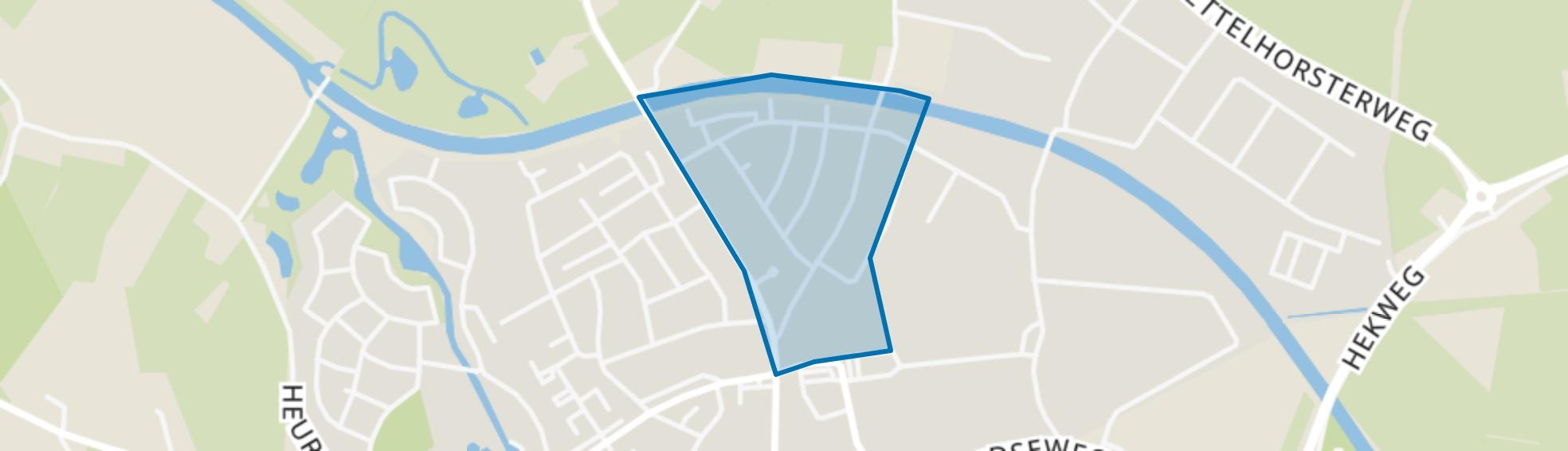 Oostenrijkse Buurt, Borculo map