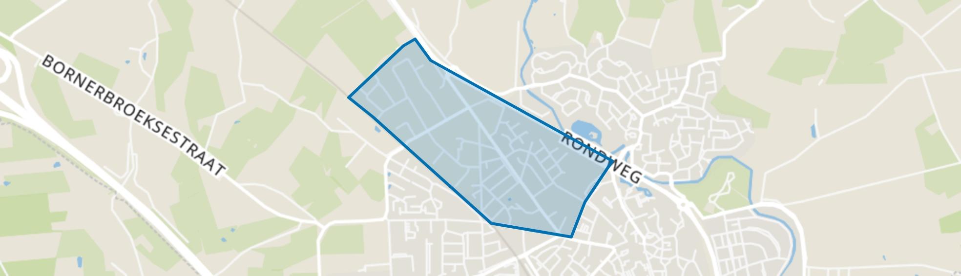 Dikkerslaan-Molenkampsweg en omgeving, Borne map