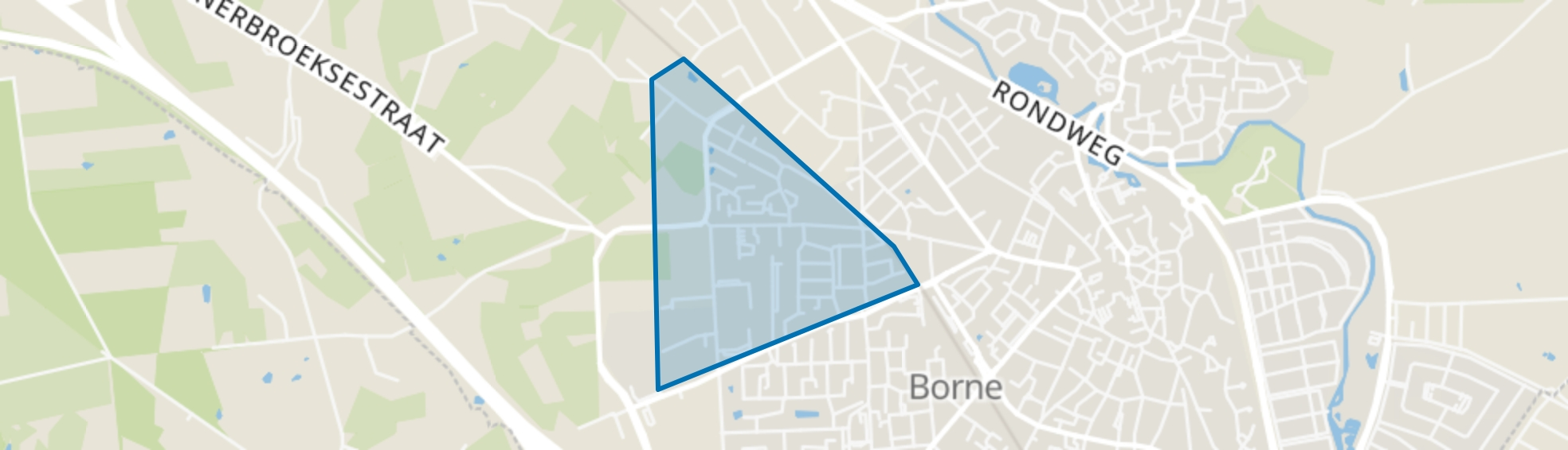 Lettersveld I, Borne map