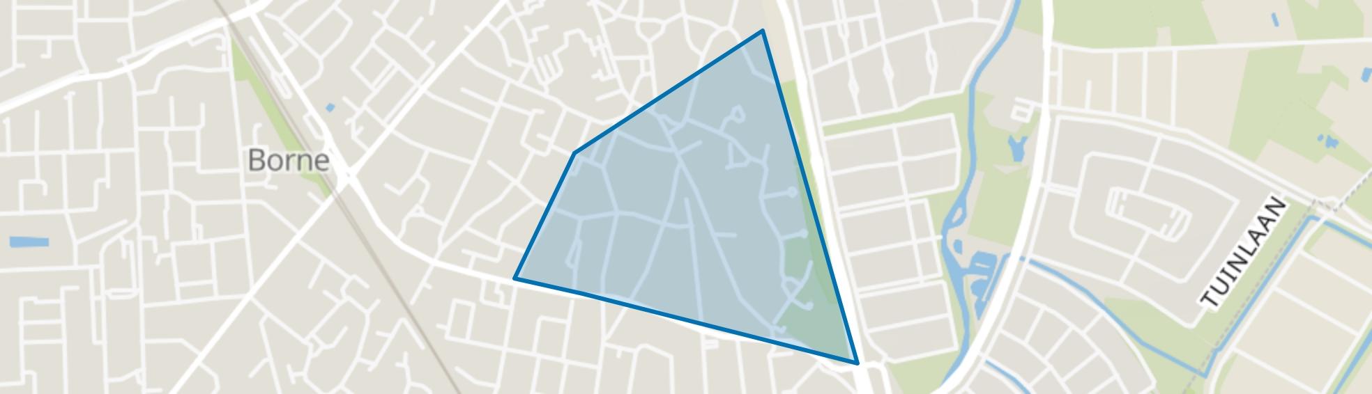 't Wensink Noord, Borne map
