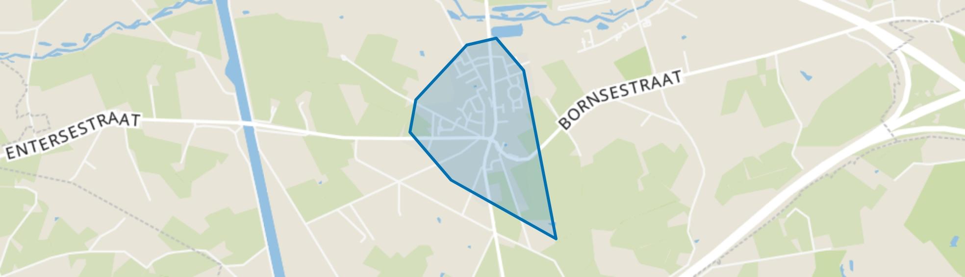Bornerbroek, Bornerbroek map