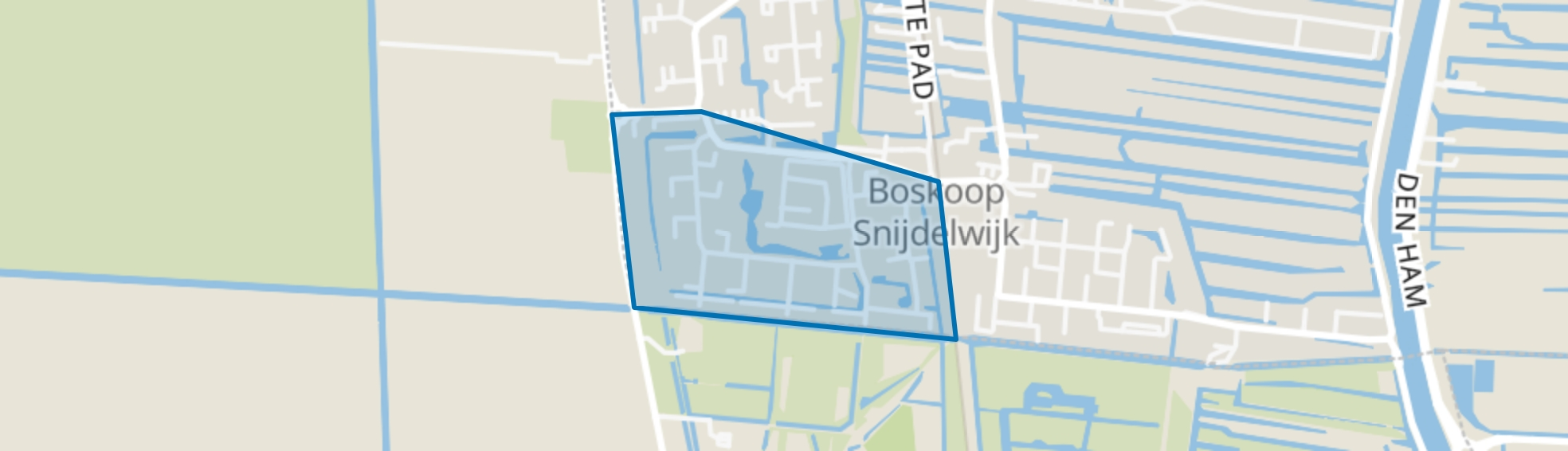 Vogelbuurt, Boskoop map