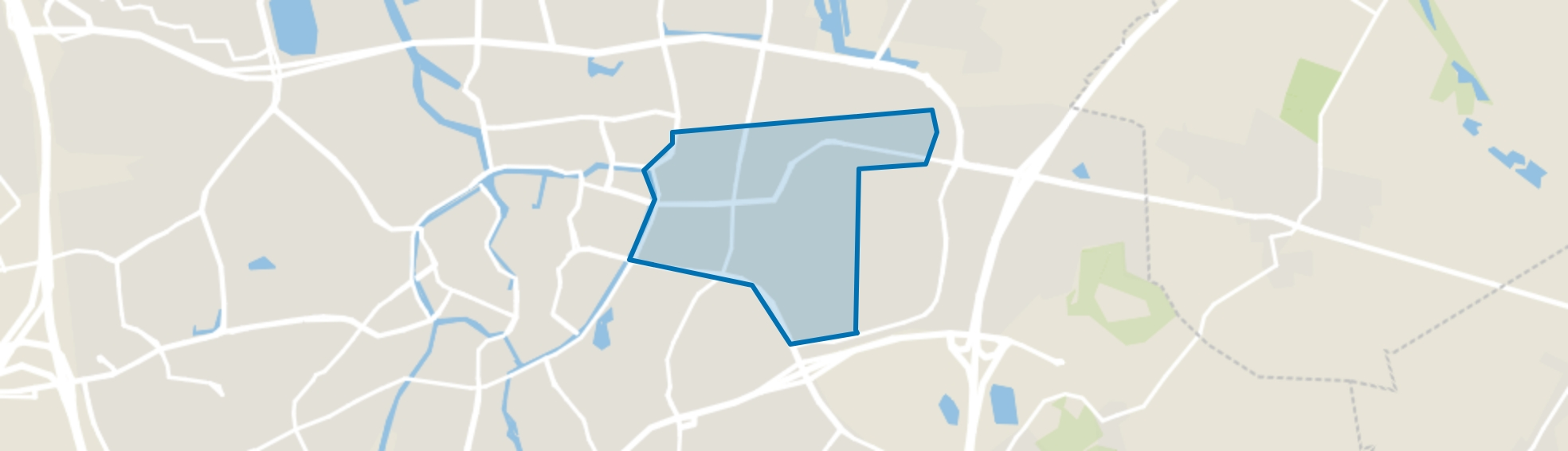 Brabantpark, Breda map