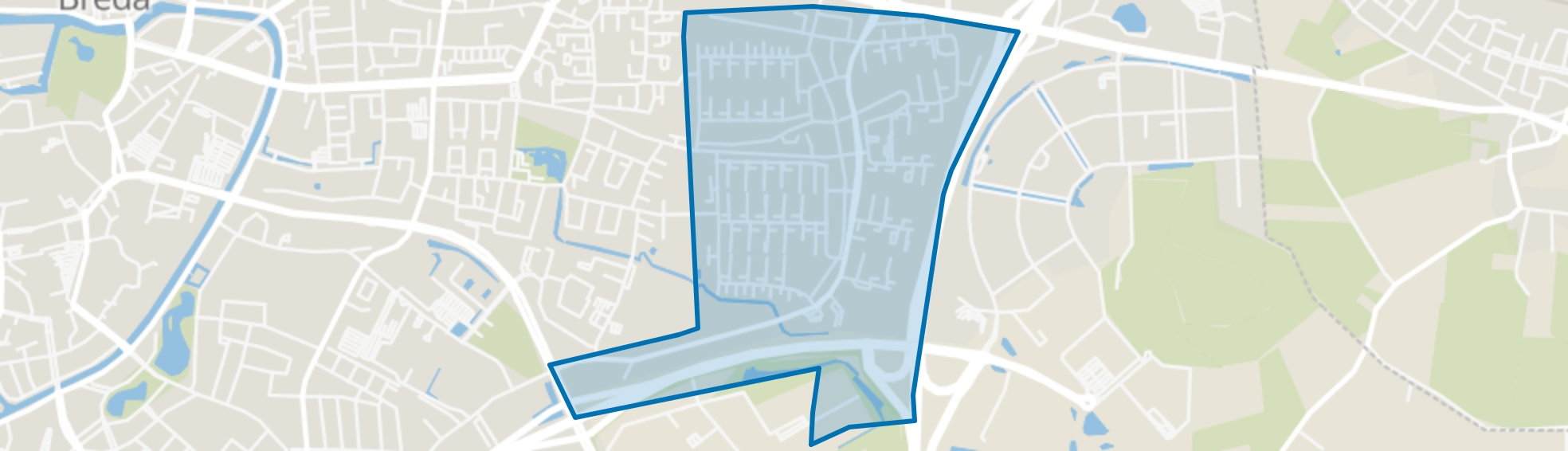 Heusdenhout, Breda map