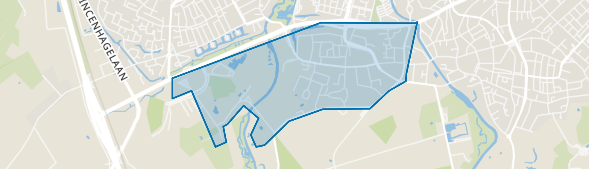 Ruitersbos, Breda map