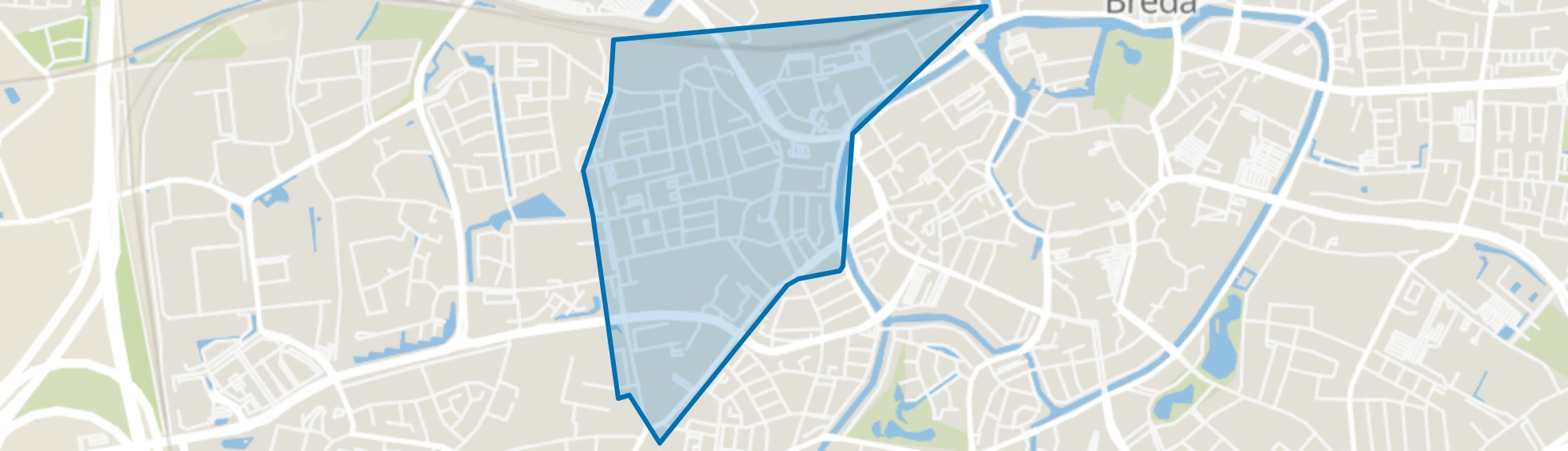Tuinzigt, Breda map
