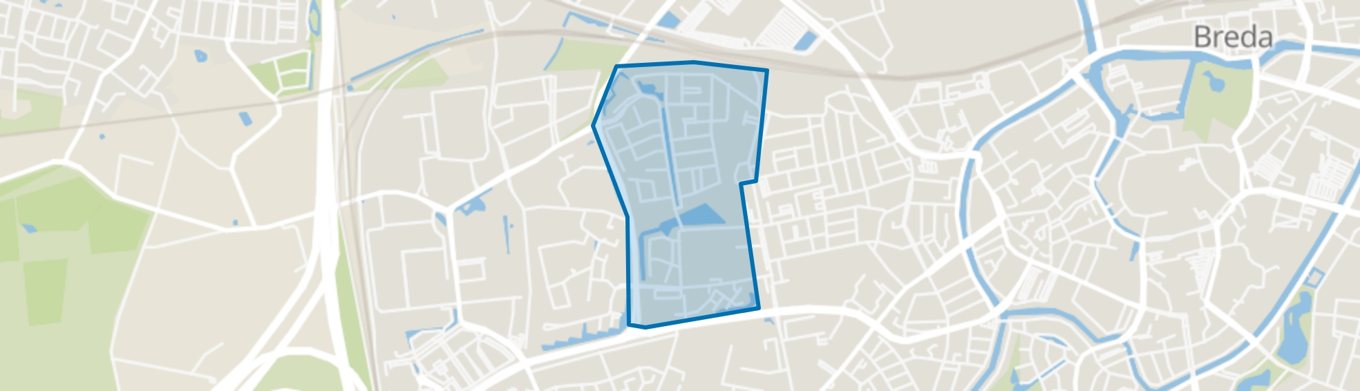 Westerpark, Breda map