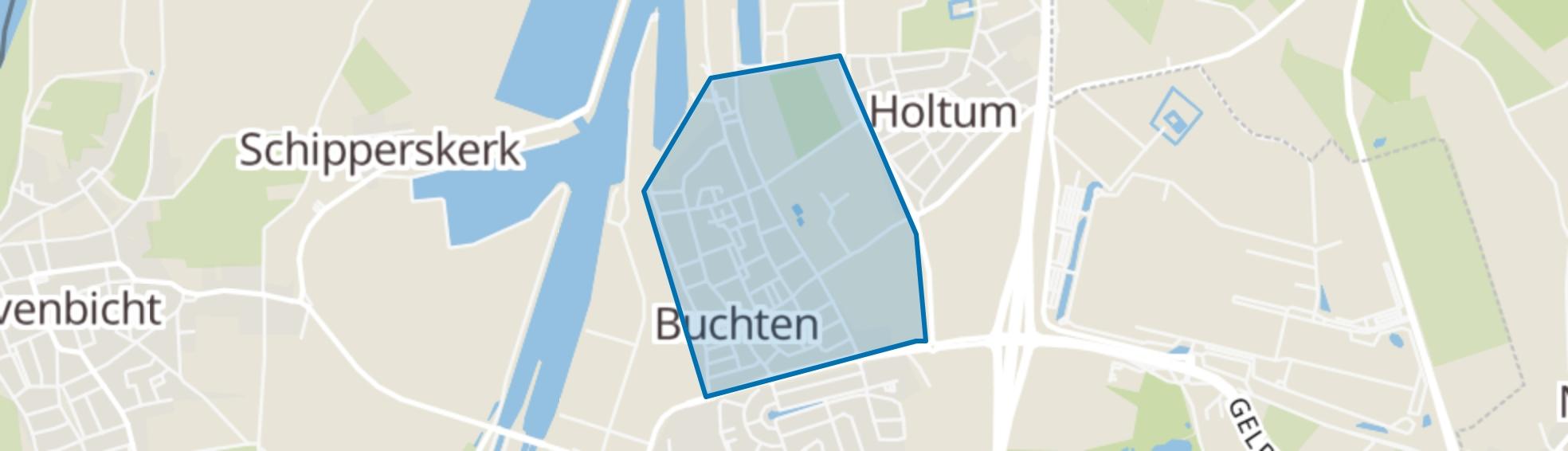 Buchten map