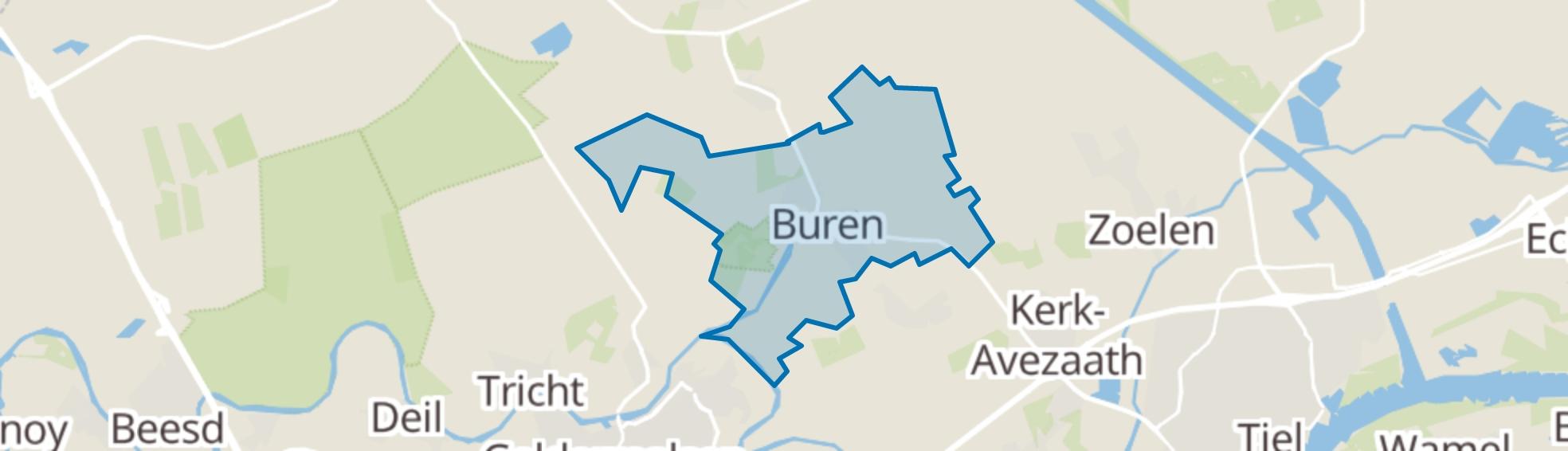 Buren (GE) map