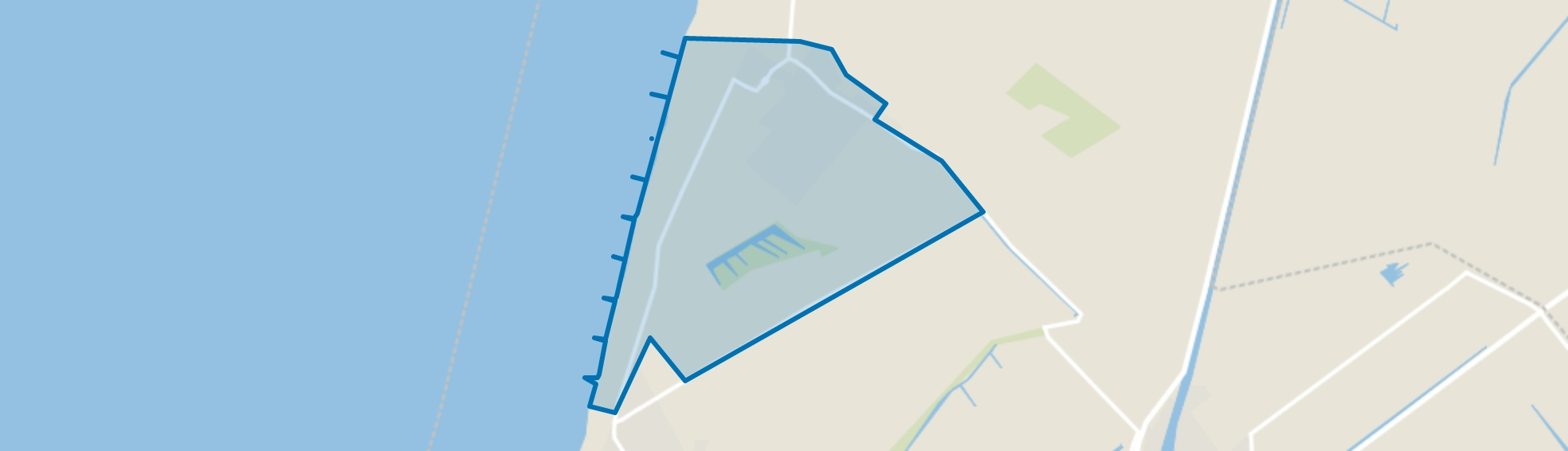 Groote Keeten, Abbestede en Buitengebied, Callantsoog map