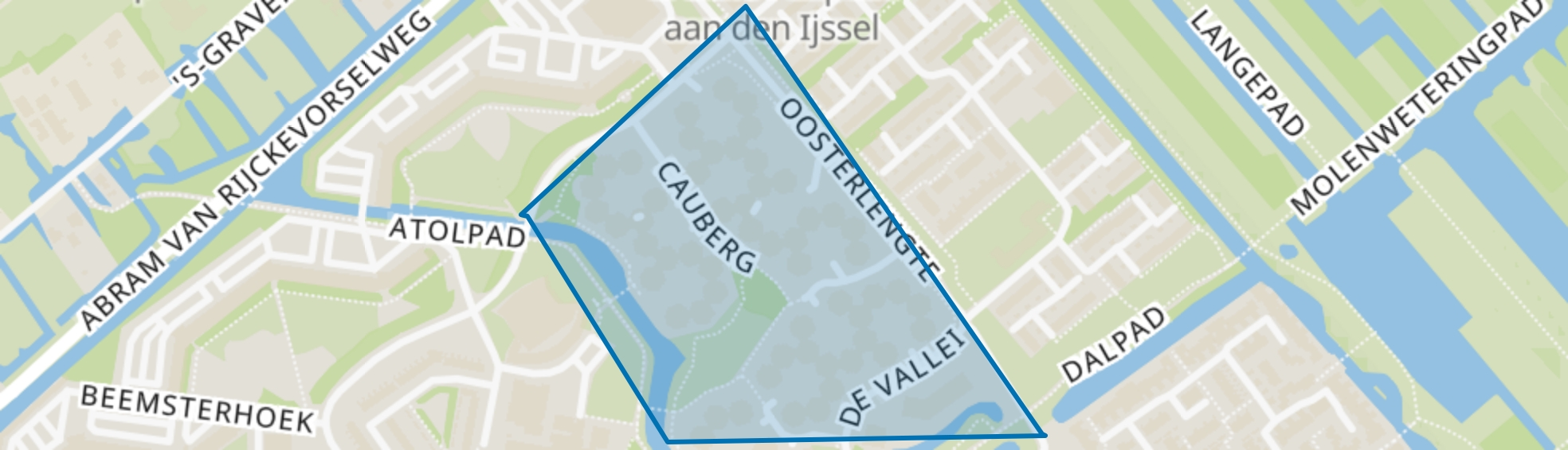 Bergenbuurt, Capelle aan den IJssel map
