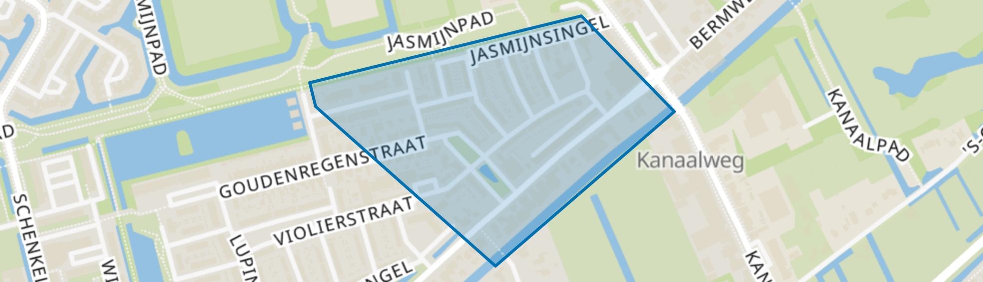 Bloemenbuurt-oost, Capelle aan den IJssel map
