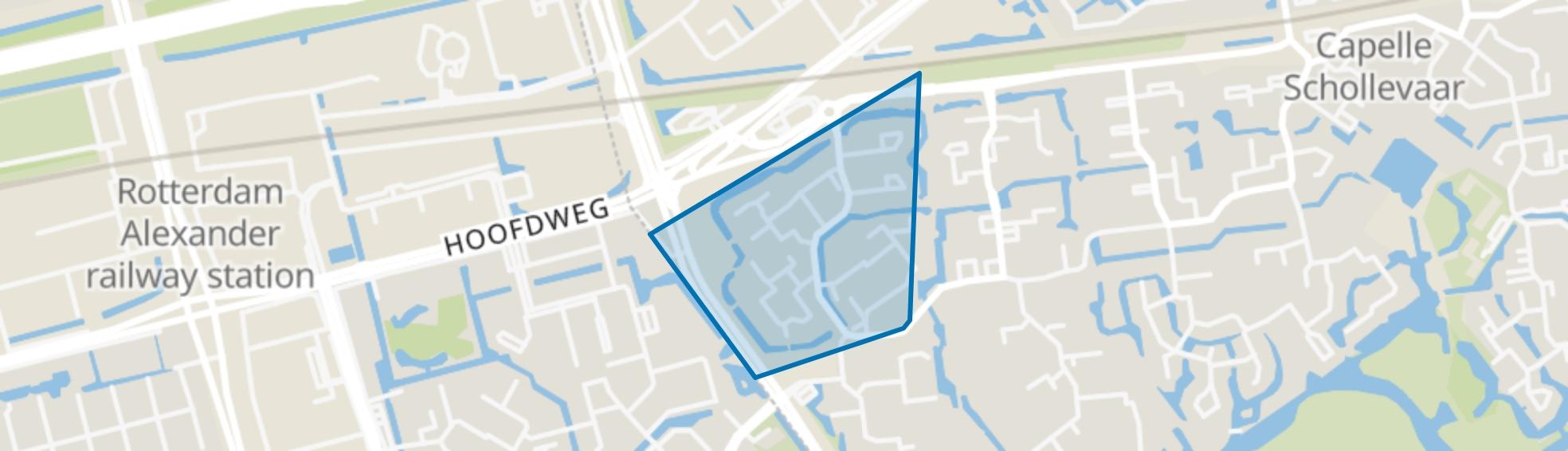 Dansenbuurt-noord, Capelle aan den IJssel map