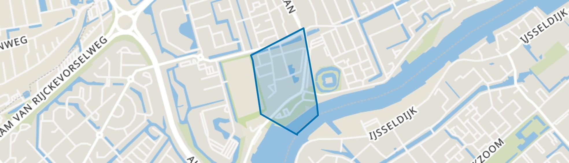 Rozenburcht, Capelle aan den IJssel map