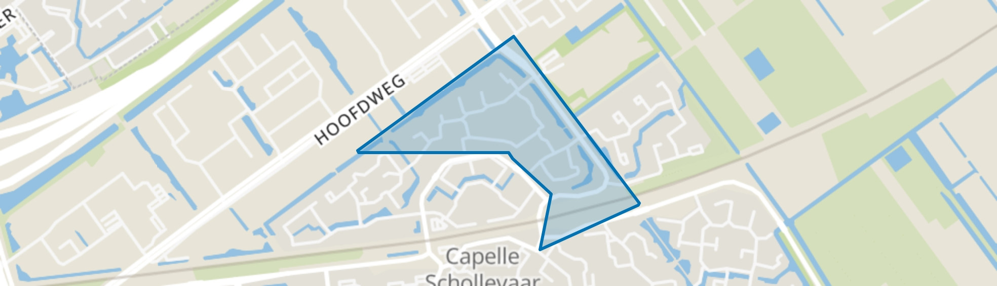 Sporenbuurt-oost, Capelle aan den IJssel map