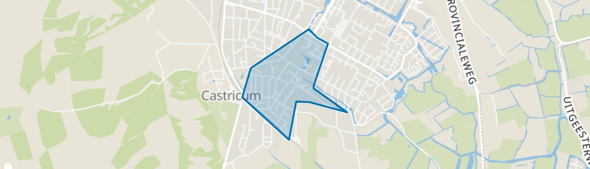 Centrum-Zuid, Castricum map