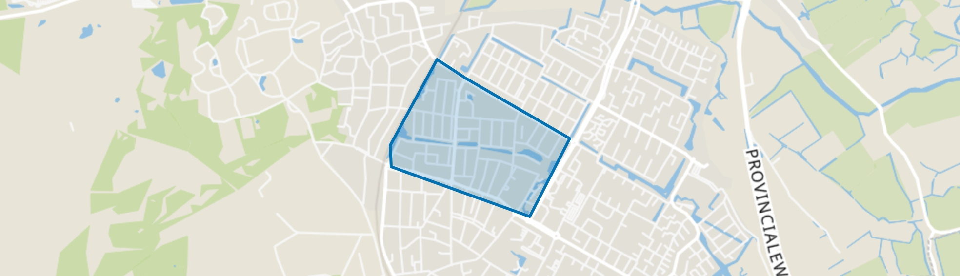 Oranjebuurt, Castricum map