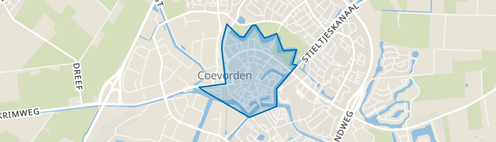 Coevorden-Centrum, Coevorden map