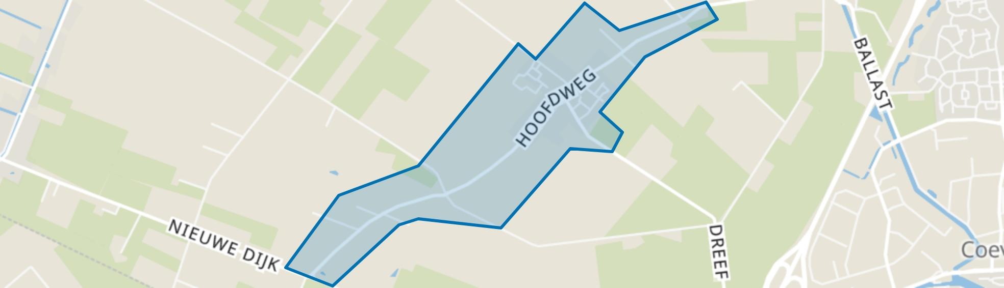 Steenwijksmoer, Coevorden map