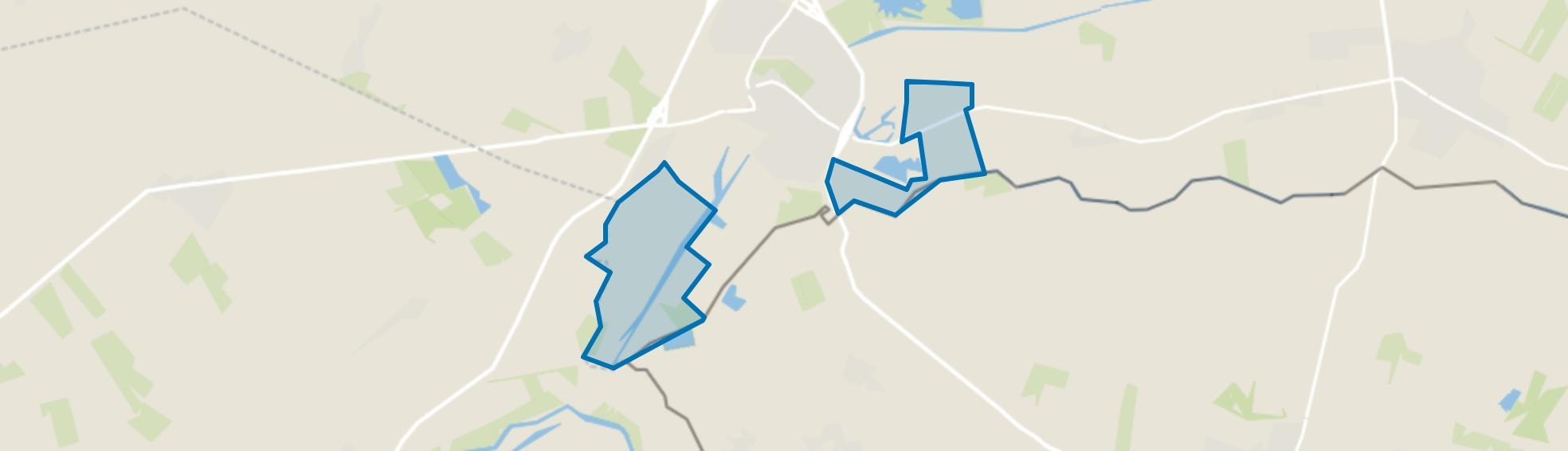 Verspreide huizen Coevorden, Coevorden map
