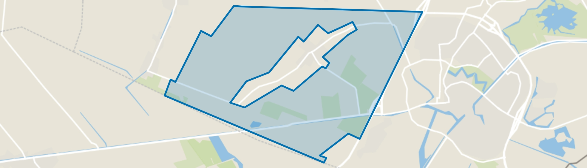 Verspreide huizen Steenwijksmoer, Coevorden map