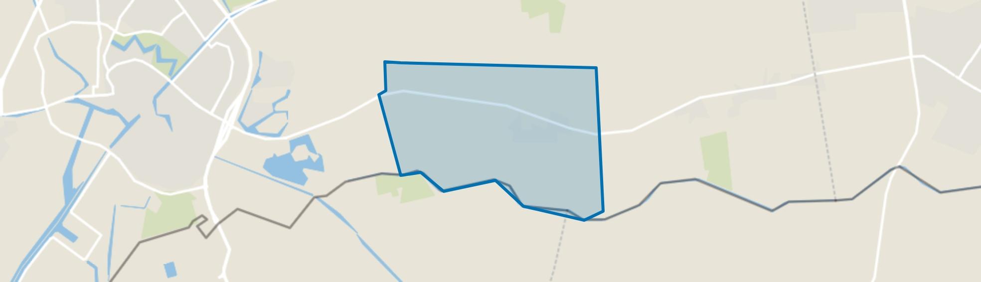 Verspreide huizen Weijerswold, Coevorden map