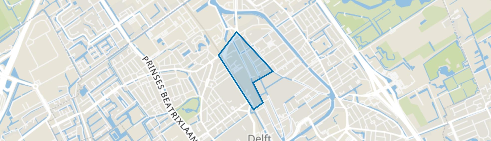 Centrum-West, Delft map
