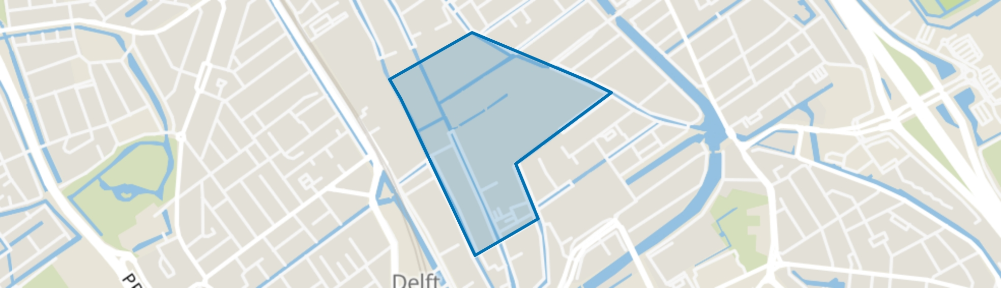 Centrum, Delft map