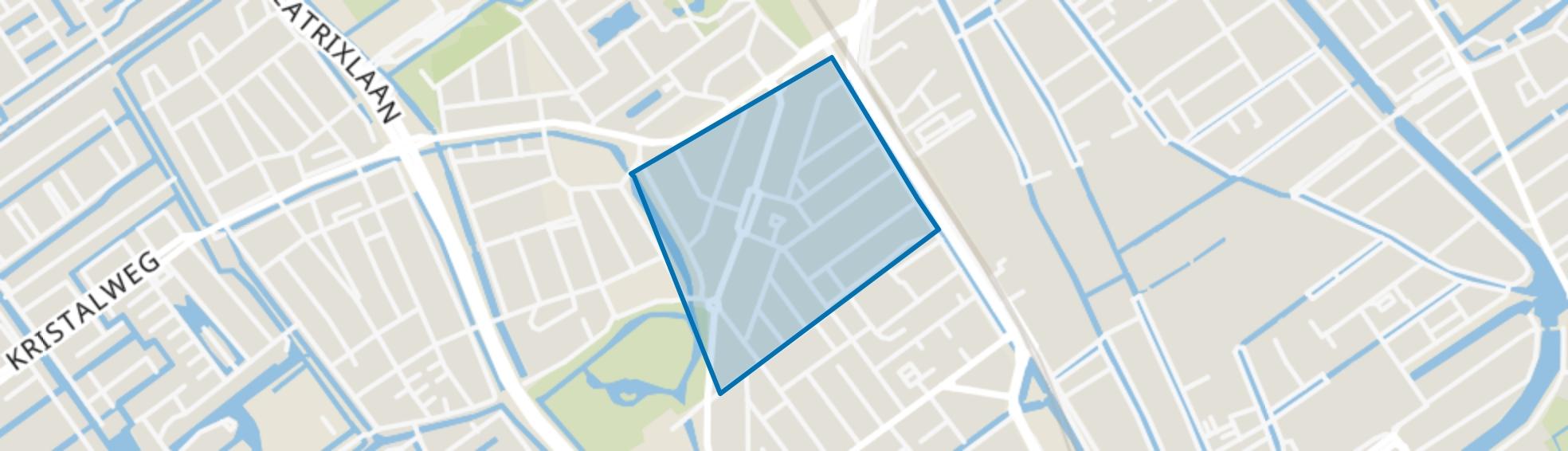 Ministersbuurt-Oost, Delft map
