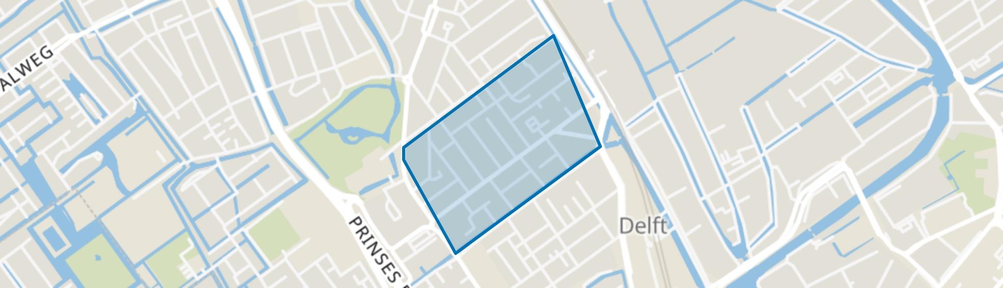 Olofsbuurt, Delft map