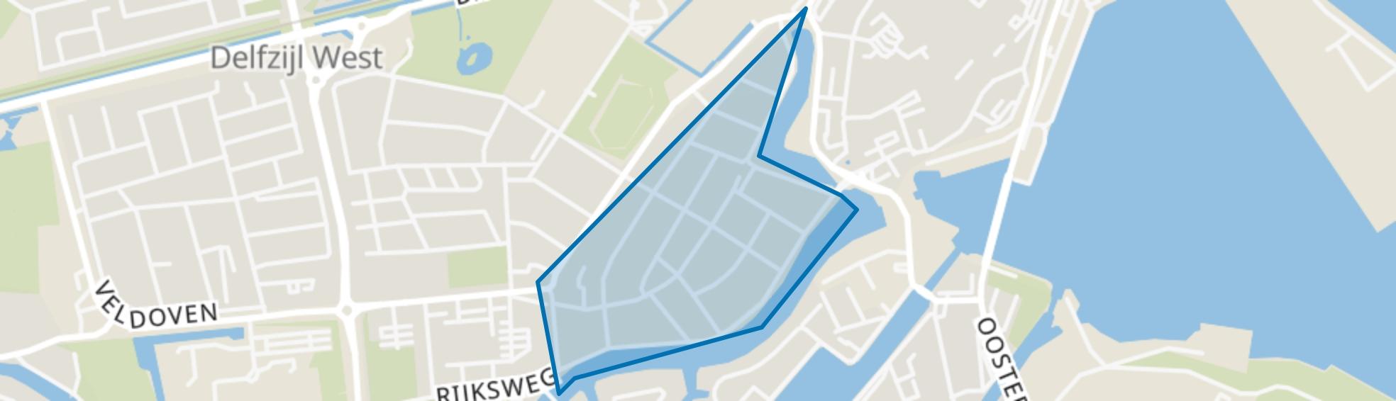Over de Gracht, Delfzijl map