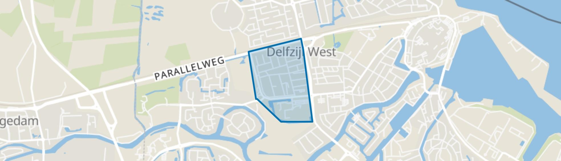 Steenbakkersbuurt, Delfzijl map