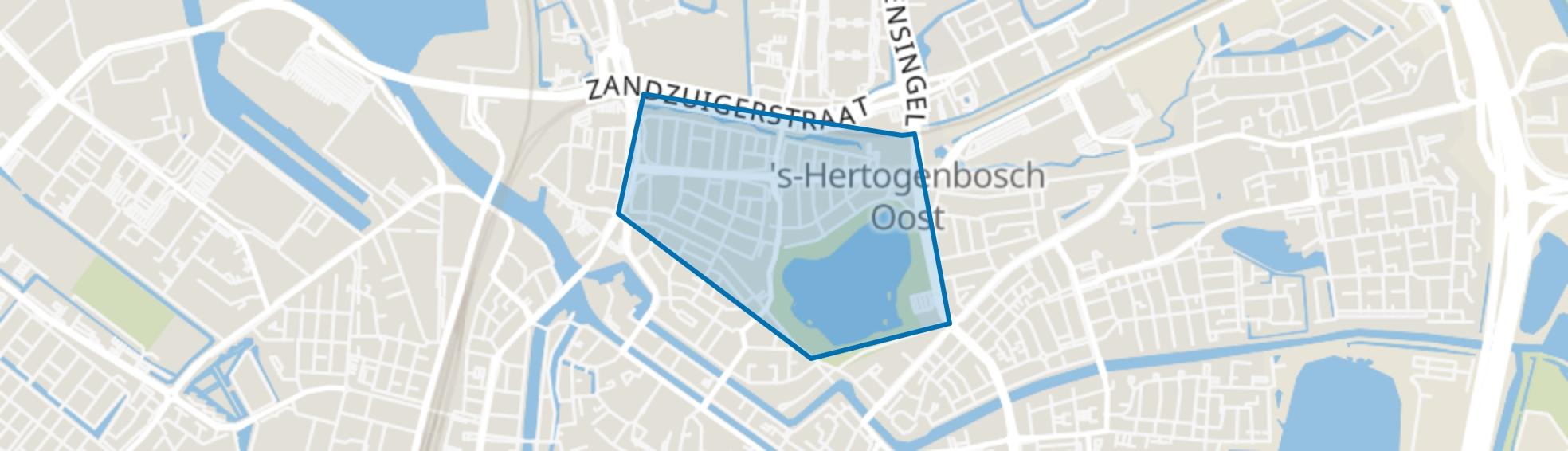 De Vliert, Den Bosch map