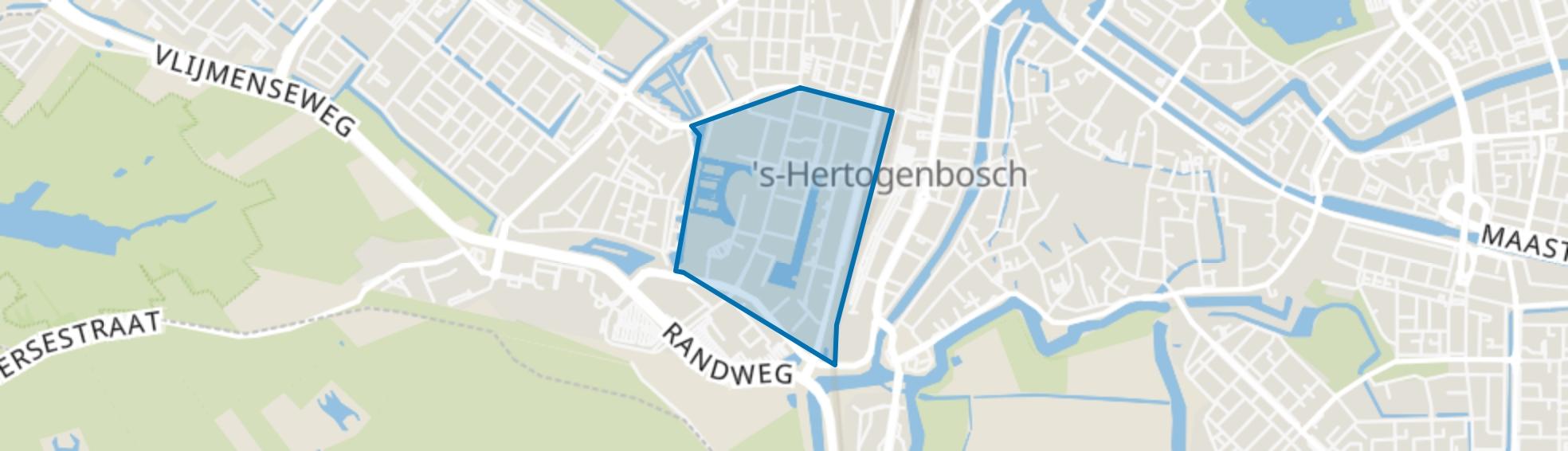 Paleiskwartier, Den Bosch map