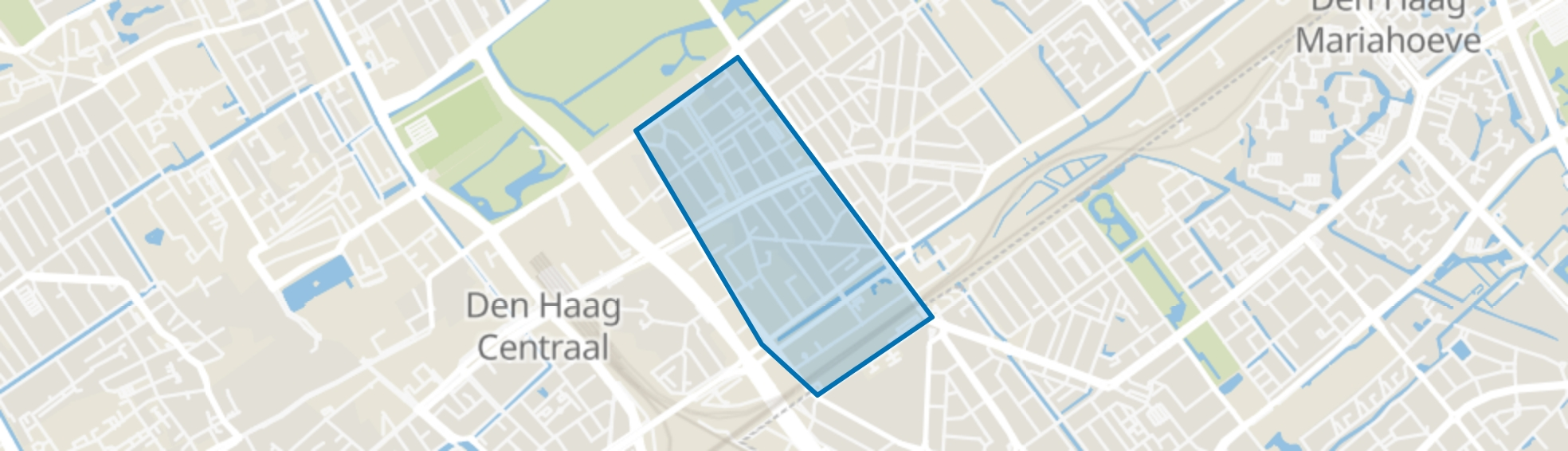 Bezuidenhout-Midden, Den Haag map