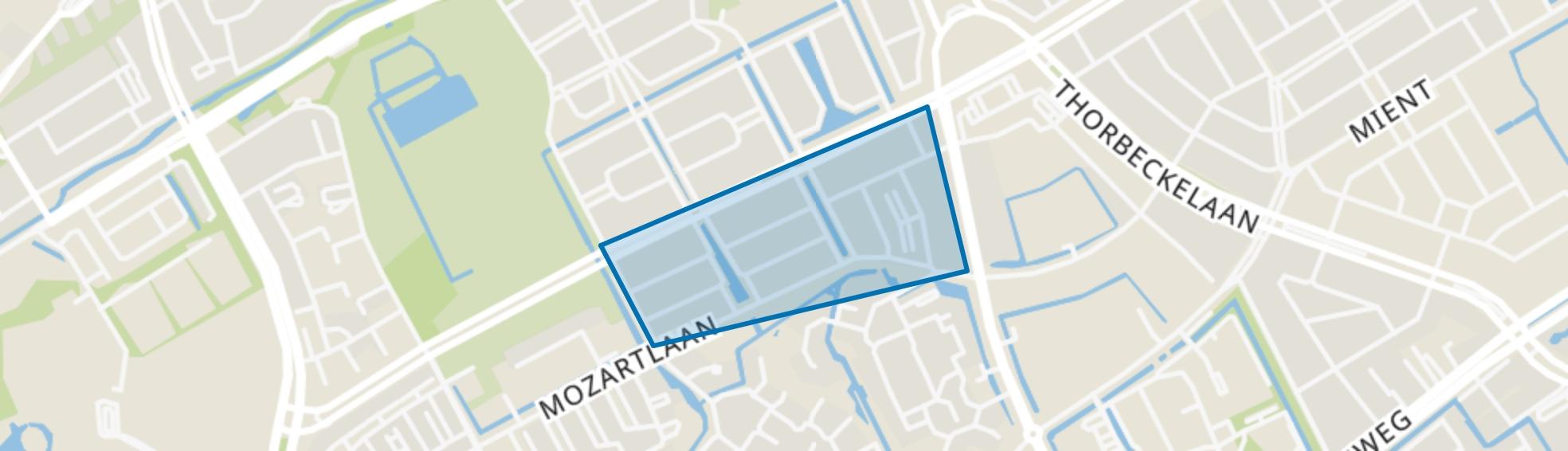 Componistenbuurt, Den Haag map
